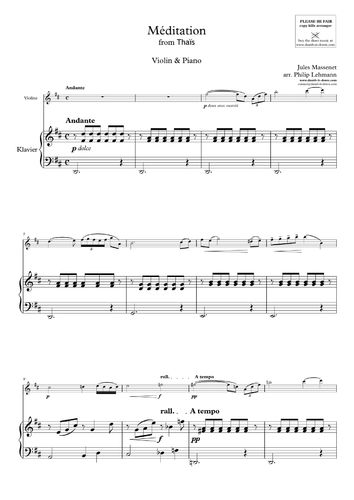 Massenet, J. - Meditation from 'Thais' (Violin)