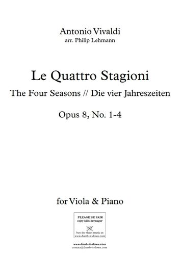 Vivaldi, A. - Le Quattro Stagioni (The Four Seasons) - Op. 8, No. 1-4 (Viola)